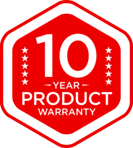 10 year product warranty